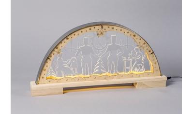 HGD Holz - Glas - Design Lichterbogen Bergleute mit Edelstahlrahmen kaufen