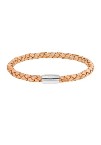 CAÏ Armband »Edelstahl Leder natur 23cm« kaufen