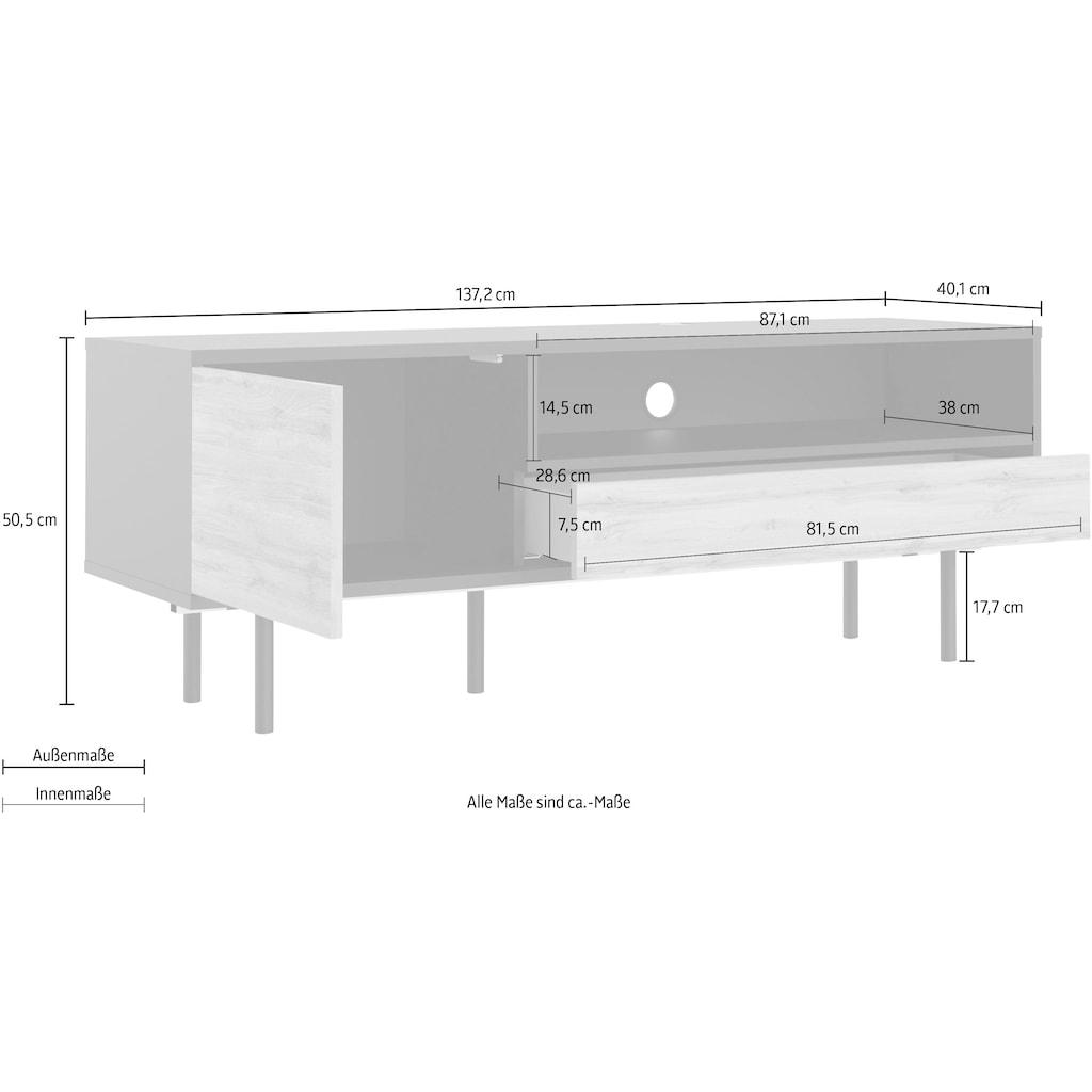 Home affaire TV-Board »Match«, mit einer praktischen Kabeldurchführung, pflegeleichte Oberfläche, Push-To-Open Funktion, Breite 137,2 cm