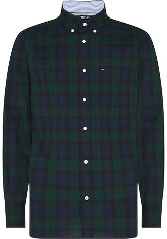 TOMMY HILFIGER Langarmhemd »FLEX BLACK WATCH CHECK SHIRT« kaufen