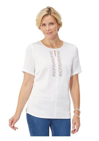 Bluse mit dekorativen Metall - Plättchen kaufen