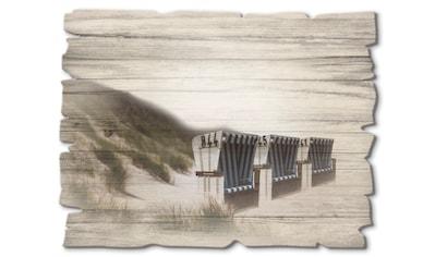 Artland Holzbild »Strandkörbe«, Strand, (1 St.) kaufen