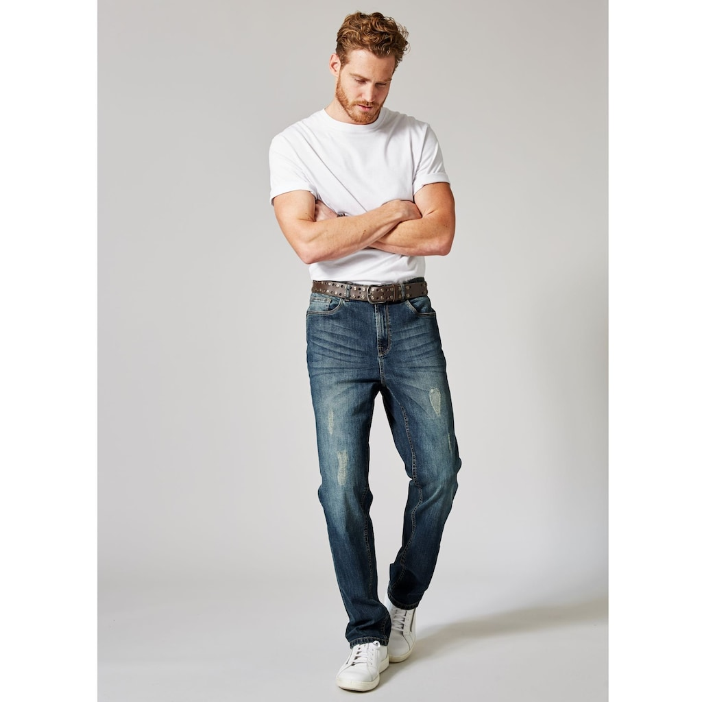 Men Plus by Happy Size Destroyed-Jeans