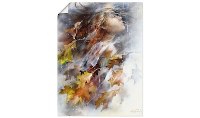 Artland Wandbild »Herbst«, Frau, (1 St.), in vielen Größen & Produktarten... kaufen