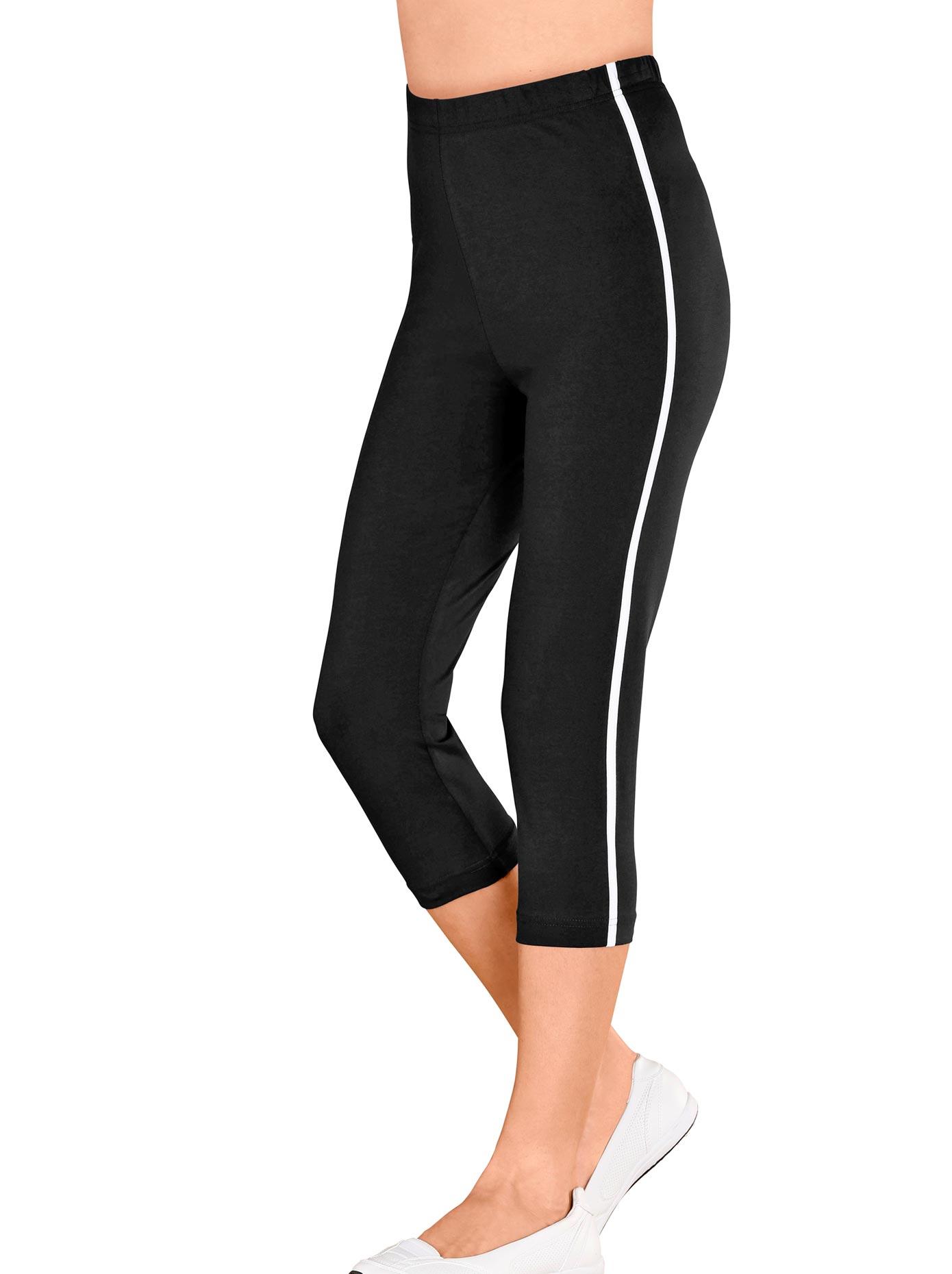 Classic Basics Capri-Leggings mit kontrastfarbenen Paspeln | Bekleidung > Hosen > Leggings | Schwarz | Classic Basics