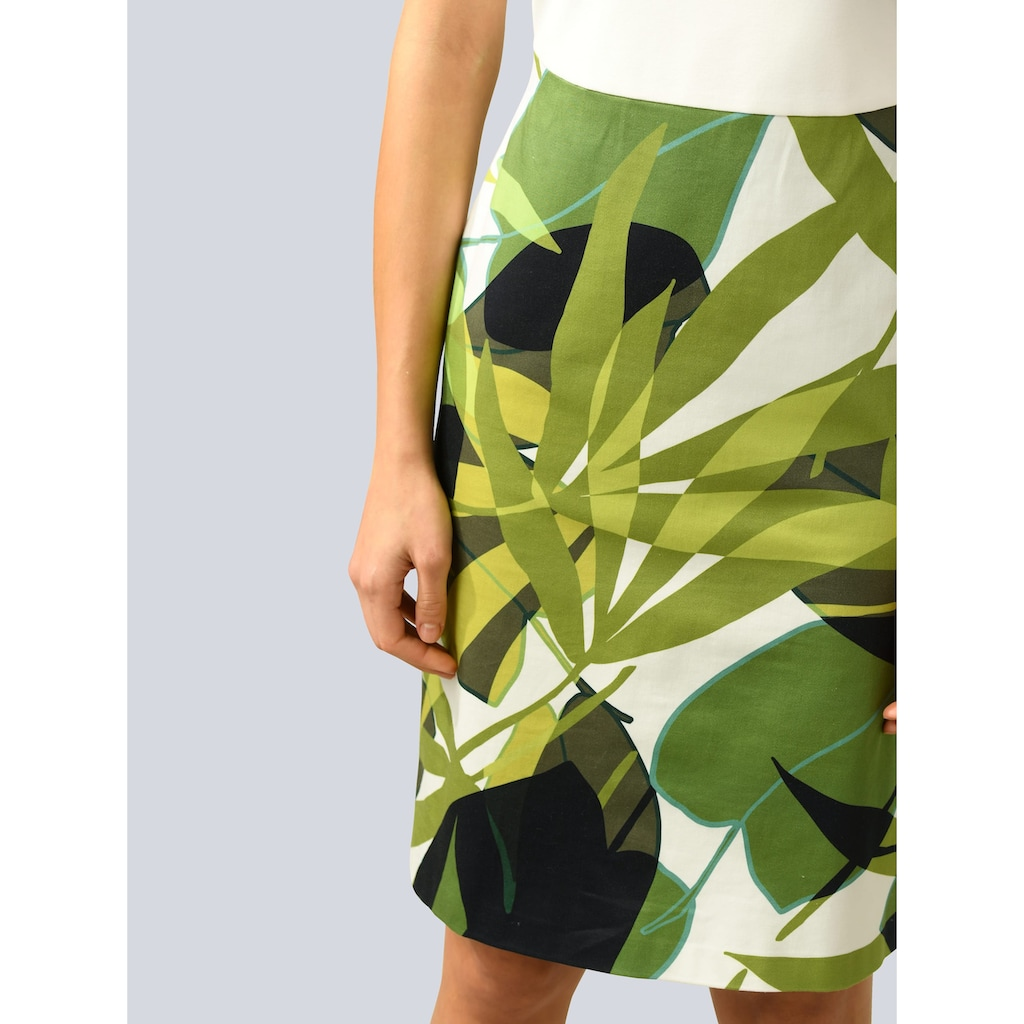 Alba Moda 2-in-1-Kleid, mit bedrucktem Rockteil