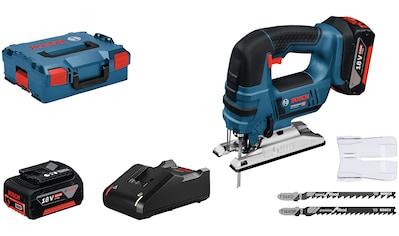 Bosch Professional Stichsäge »GST 18V-LI B«, 4 Pendelhubstufen, mit Akku und Ladegerät kaufen