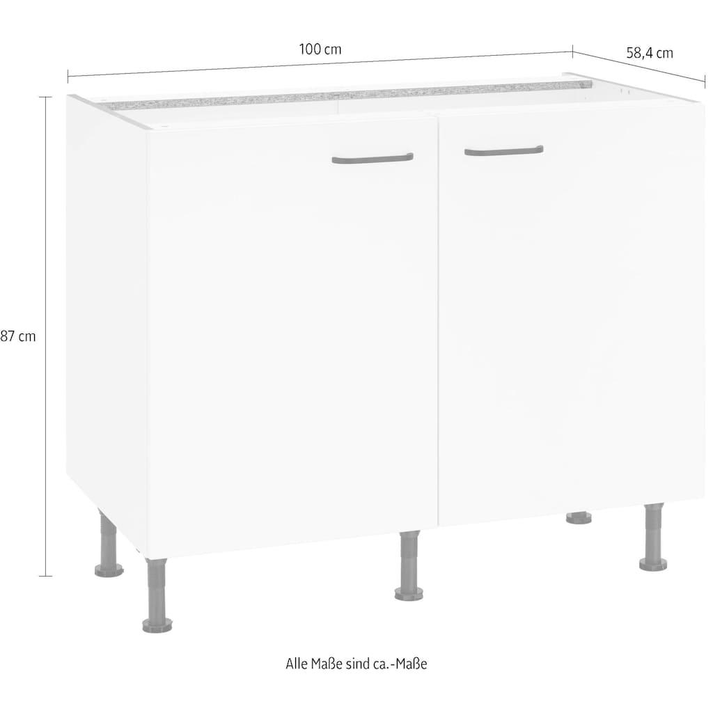 OPTIFIT Unterschrank »Elga«, mit Soft-Close-Funktion, höhenverstellbaren Füßen und Metallgriffen, Breite 100 cm