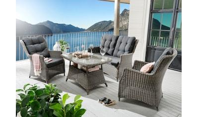 Destiny Gartenmöbelset »Casa«, (11 tlg.), 2 Sessel, 2er-Sofa, Tisch 120x75 cm, Polyrattan kaufen