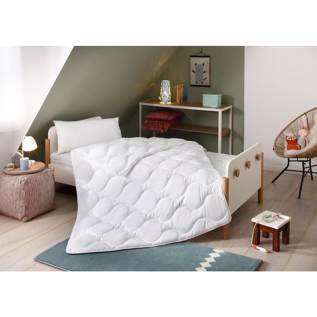Lüttenhütt Kinderbettdecke + Kopfkissen »Micro«, (Spar-Set), strapazierfähig und pflegeleicht