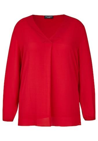 VIA APPIA DUE Zarte Bluse mit integriertem Untertop Plus Size kaufen