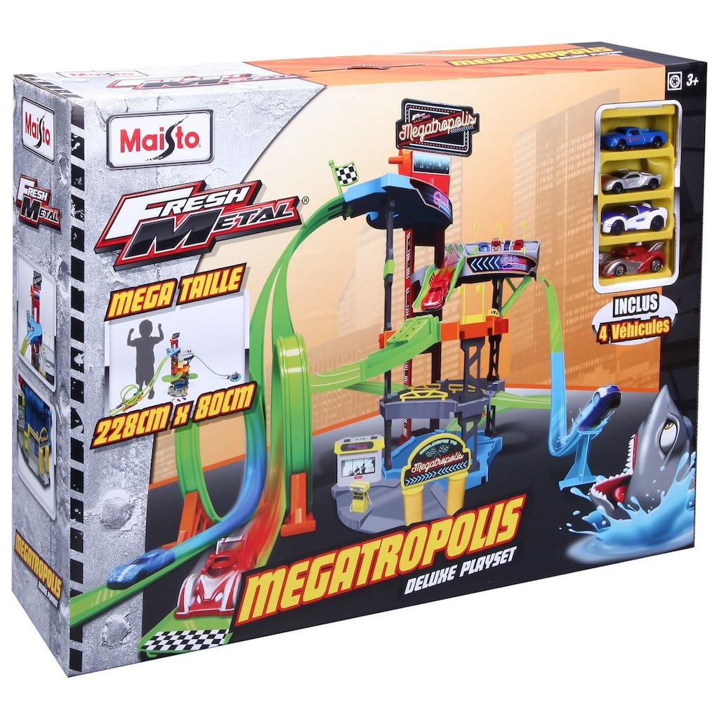 Maisto® Spiel-Gebäude »Megatropolis Mega«, inklusive 4 Fresh Metal Autos