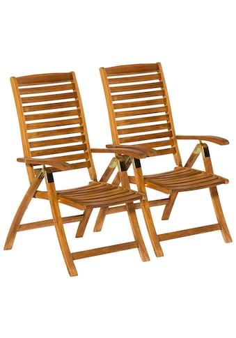 MERXX Gartenstuhl »Paraiba«, 2er Set, Akazienholz, verstellbar kaufen