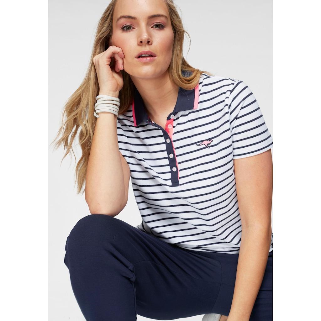 KangaROOS Poloshirt, im modischem Streifen-Look mit kontrastfarbenen Details