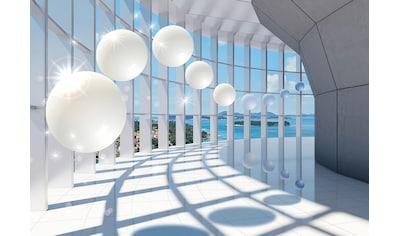 Vliestapete »3D Corridor mit Fenster«, verschiedene Motivgrößen, für das Büro oder Wohnzimmer kaufen