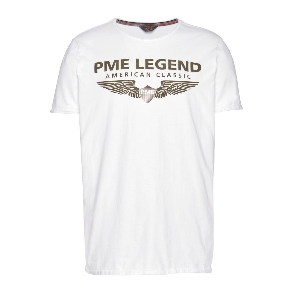PME LEGEND Rundhalsshirt, mit Logoprint