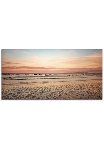Artland Glasbild »Sonnenuntergang im Watt«, Strand, (1 St.) kaufen
