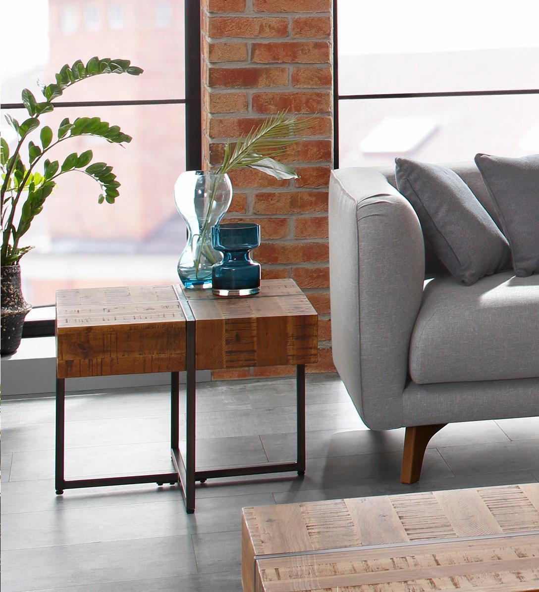 Einzigartig Industrial Look Möbel Foto Von Home Affaire Beistelltisch »marilynÂ«, Tischplatte 60/60 Cm,
