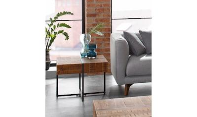 Home affaire Beistelltisch »Marilyn«, Tischplatte 60/60 cm, im Industrial-Look kaufen
