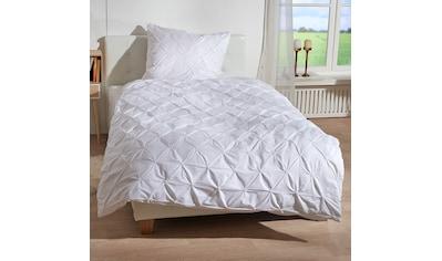 TRAUMSCHLAF Bettwäsche »Pintuck«, edles besonderes Design in weiß kaufen