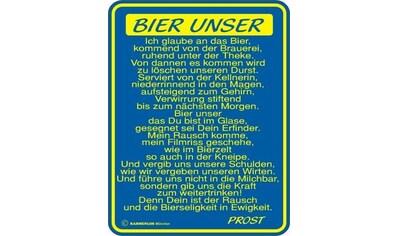 Rahmenlos Blechschild für den Bier-Liebhaber kaufen