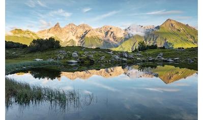 Komar Fototapete »Allgäu Spiegel«, mehrfarbig-natürlich-bedruckt kaufen