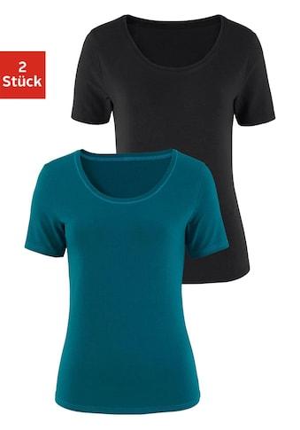 Vivance Kurzarmshirt, aus elastischer Baumwoll-Qualität kaufen