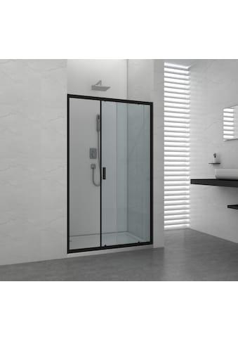 Schiebetür »ELITE«, für Duschen; mit Alu - Profilen in schwarz matt kaufen