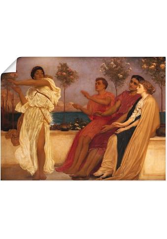 Artland Wandbild »Tanzendes griechisches Mädchen.«, Gruppen & Familien, (1 St.), in... kaufen