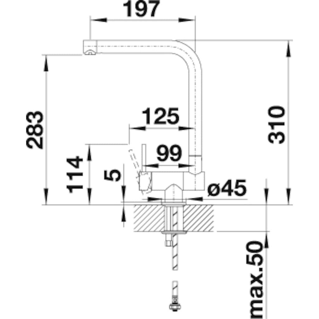 Blanco Küchenarmatur »LARESSA-F Hebel links«, klappbare Vorfensterarmatur
