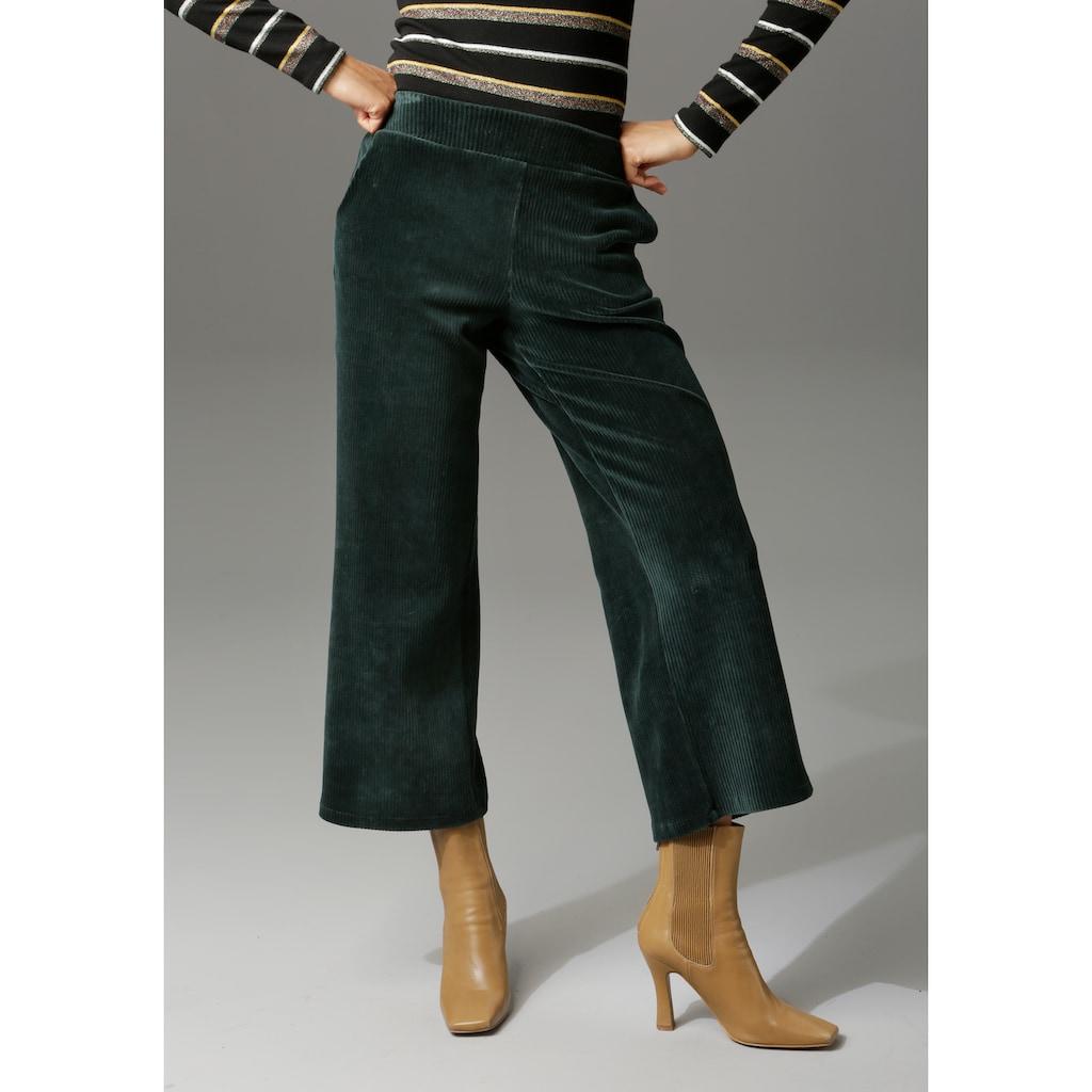 Aniston CASUAL Cordhose, in trendiger Culotte-Form