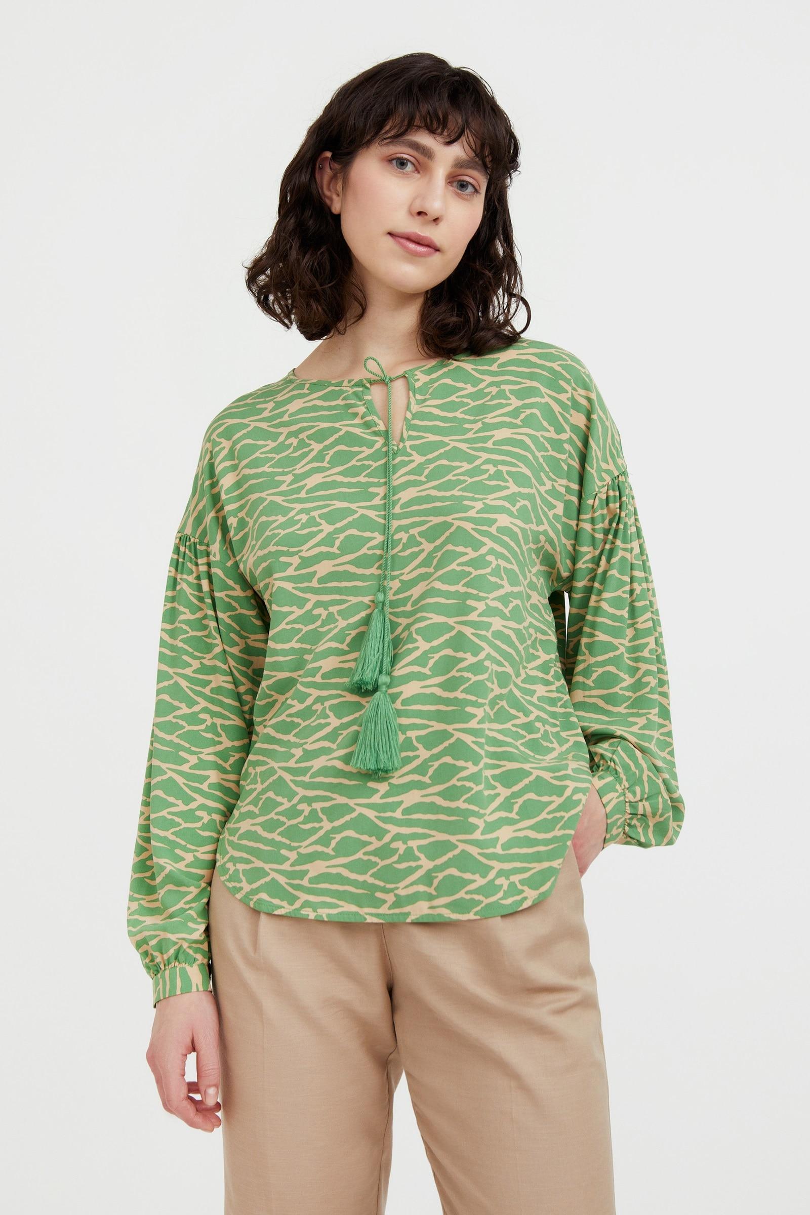finn flare -  Klassische Bluse, mit modischem Alloverdruck