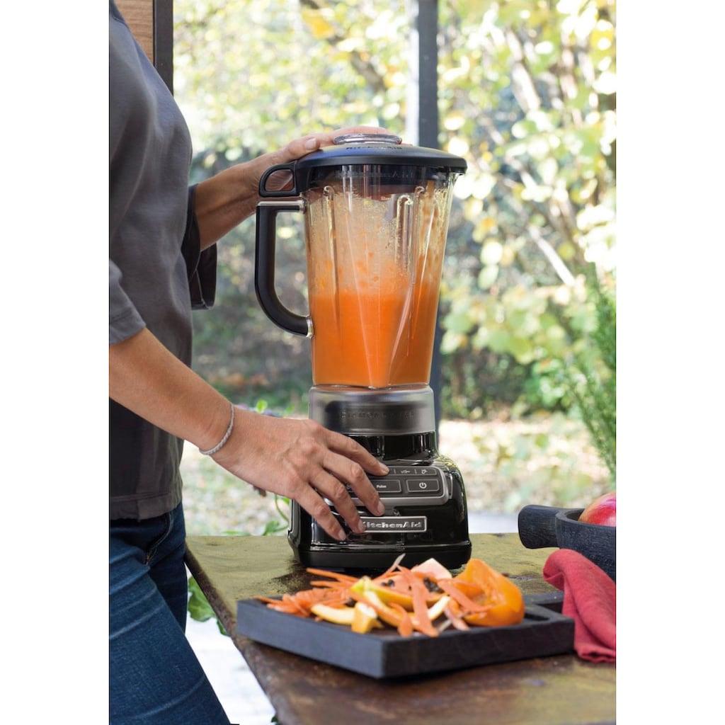 KitchenAid Standmixer »5KSB1585EOB und Mini Zerkleinerer 5KFC3516«, 550 W, Vorteilsset: Du sparst gegenüber Einzelkauf 62,90€