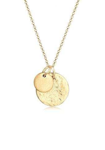 Elli Collierkettchen »Plättchen Münzen Organic Look 925 Silber« kaufen