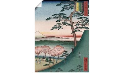 Artland Wandbild »Fuji Meguro in Edo« kaufen