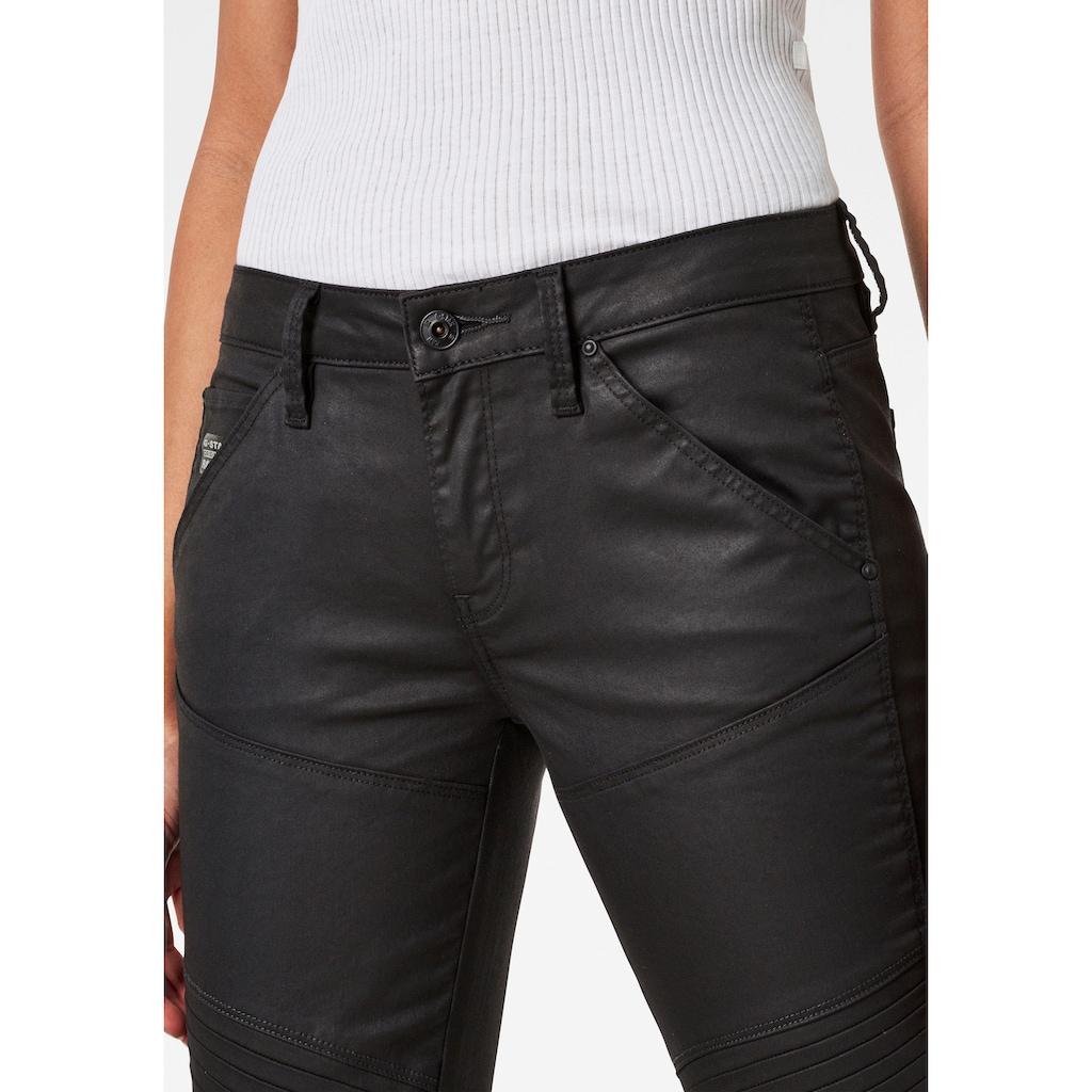 G-Star RAW Skinny-fit-Jeans »5620 Custom Mid Waist Skinny Jeans«, mit matter Beschichtung in Lederoptik