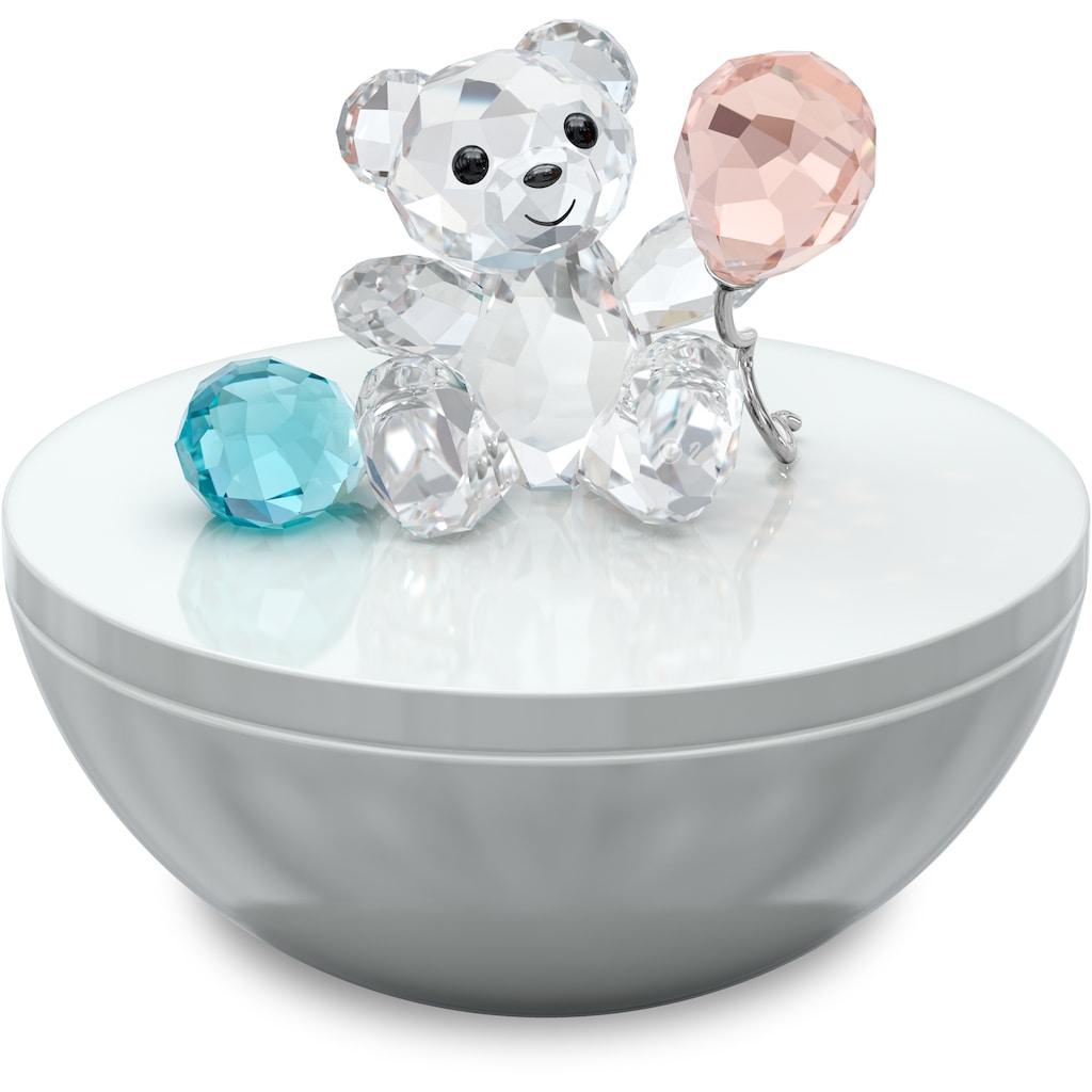 Swarovski Dekofigur »My Little Kris Bear Dekorative Box, 5557547«, Swarovski® Kristall mit schwarzem Emaille