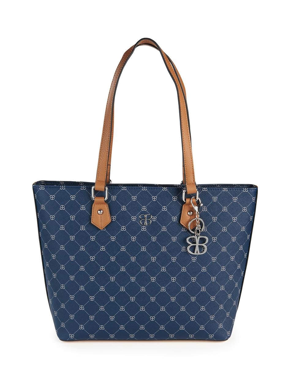basler -  Handtasche mit Schulterriemen und Logo-Muster