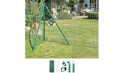 GAH ALBERTS Set: Schweißgitter »Fix - Clip Pro®«, 153 cm hoch, 10 m, grün beschichtet, zum Einbetonieren kaufen