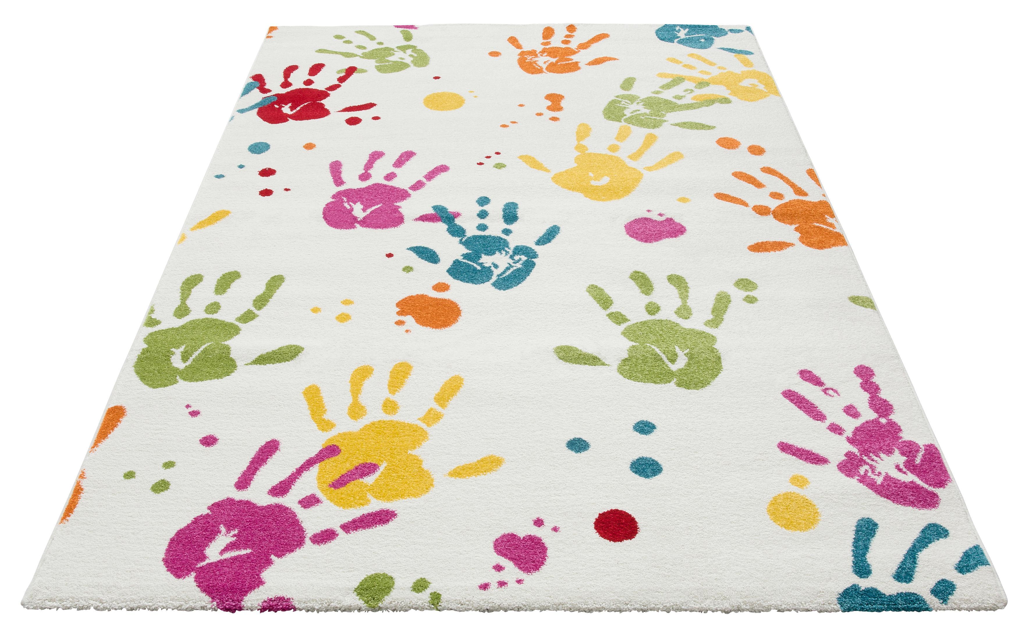 Kinderteppich Hände Lüttenhütt rechteckig Höhe 13 mm maschinell gewebt