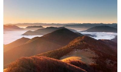 Papermoon Fototapete »Berg Sonnenuntergang«, Vliestapete, hochwertiger Digitaldruck kaufen
