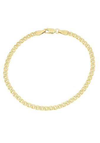 Firetti Goldarmband »Doppelpanzerkettengliederung, 4,0 mm breit, 2 - fach diamantiert« kaufen