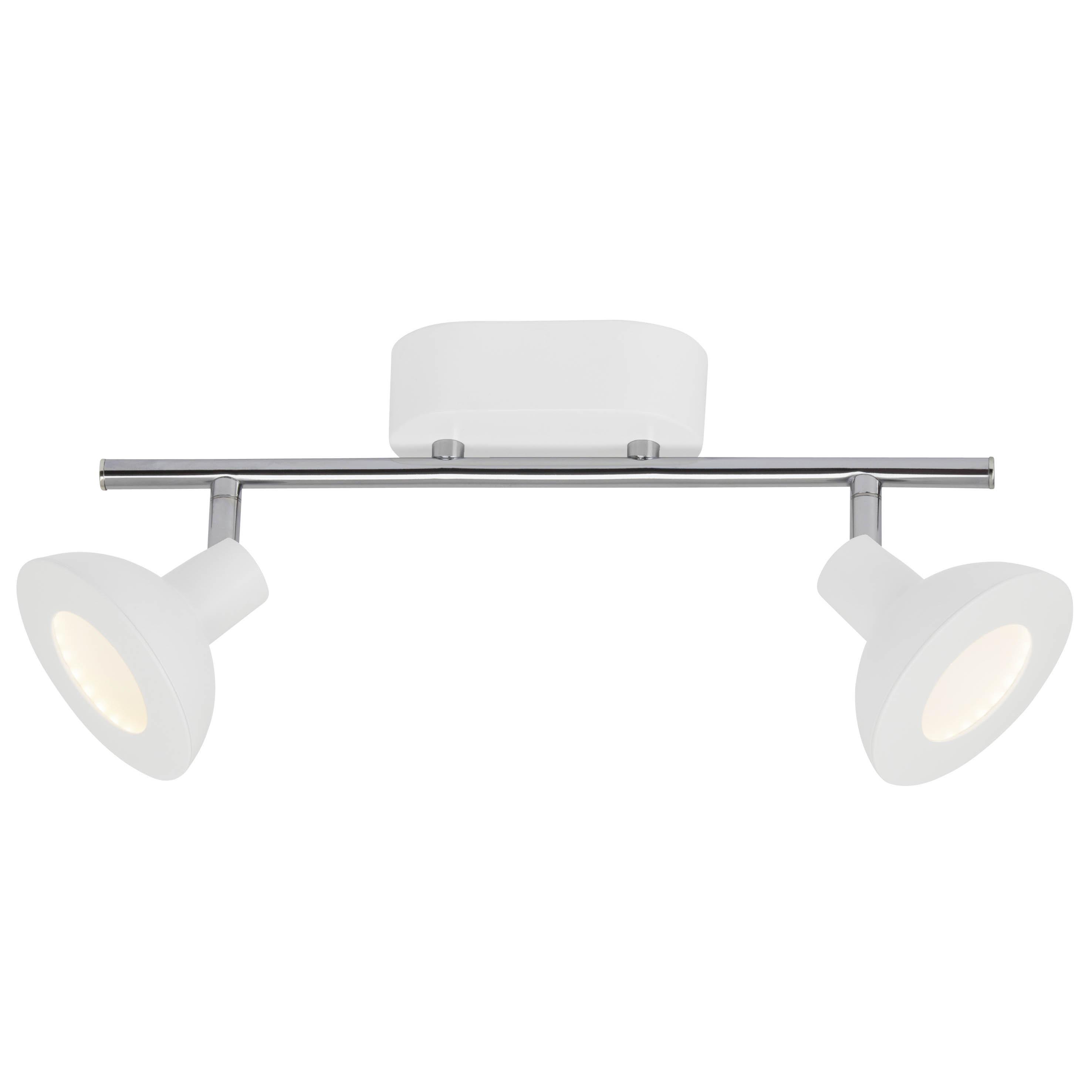 AEG Titania LED Spotrohr 2flg weiß/chrom