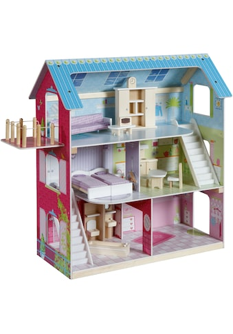 roba® Puppenhaus »Puppenvilla«, inkl. 16 Puppenmöbel kaufen