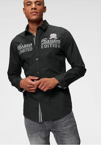 Bruno Banani Langarmhemd, mit hochwertigen Stickereien kaufen