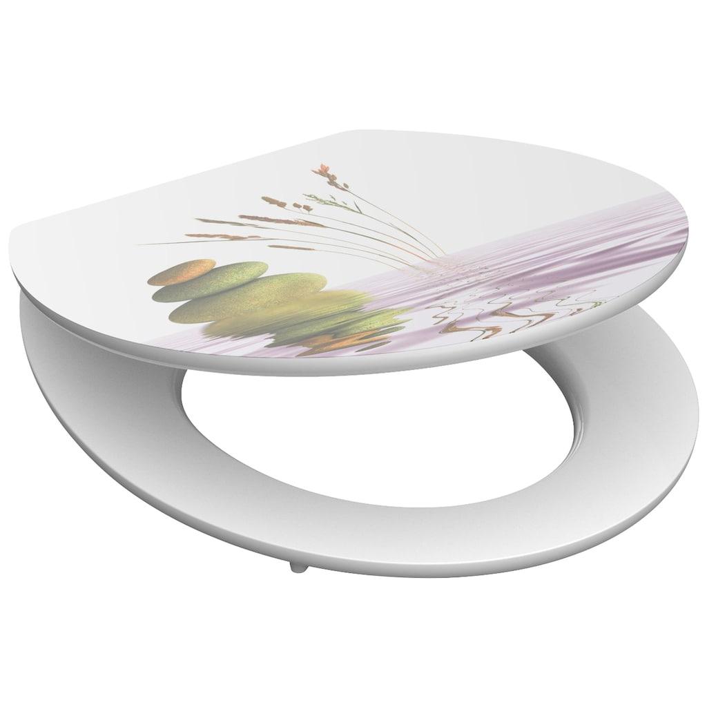 Schütte WC-Sitz »MDF WC- Sitz mit Holzkern und Absenkautomatik High Gloss Dekor«, mit Absenkautomatik