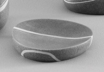 Zeller Present Seifenschale Stein-Optik grau Seifenschalen Badaccessoires Badmöbel