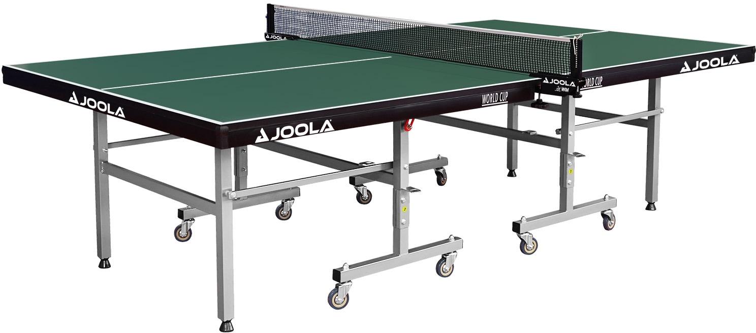Joola Tischtennisplatte JOOLA Indoor-Tischtennisplatte World Cup grün Tischtennis-Ausrüstung Tischtennis Sportarten