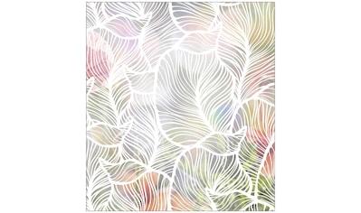 MySpotti Fensterfolie »Look Leaves white«, halbtransparent, glattstatisch haftend, 90... kaufen