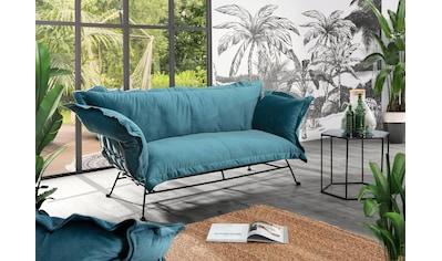 Gutmann Factory 2-Sitzer, mit weichem Samtvelours Bezug kaufen